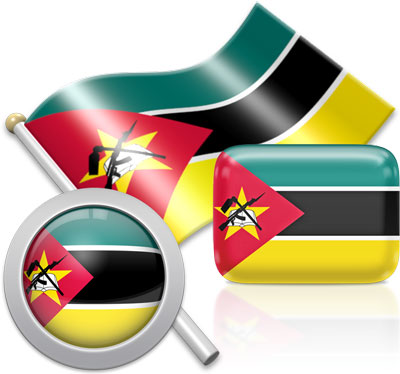 Mozambican flag icons pictures collection