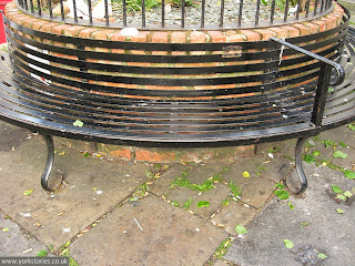 June 2013. A handsome curved bit of metalwork, which would look much nicer if painted. Classy blue-grey perhaps? But no, let's send it for scrap instead. #reinvigorateyork ...