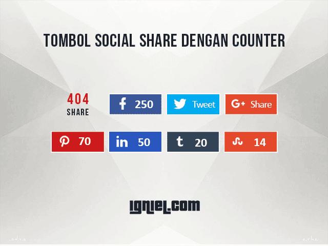 Tombol Share Media Sosial Dengan Counter Tombol Share Ke Media Sosial Dengan Counter