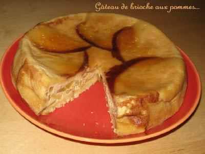 Gateau de brioche façon pain perdu aux pommes