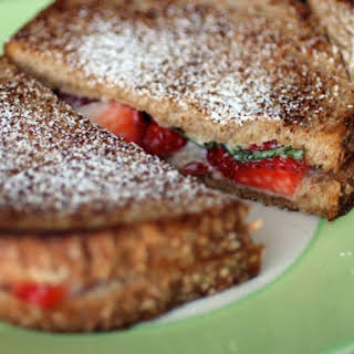 Mascarpone, Strawberry, and Basil Grilled Cheese Sandwiches.