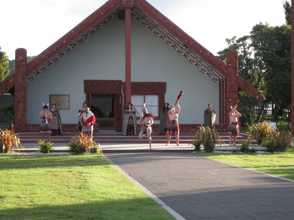 Marae meeting hall at Te Puia