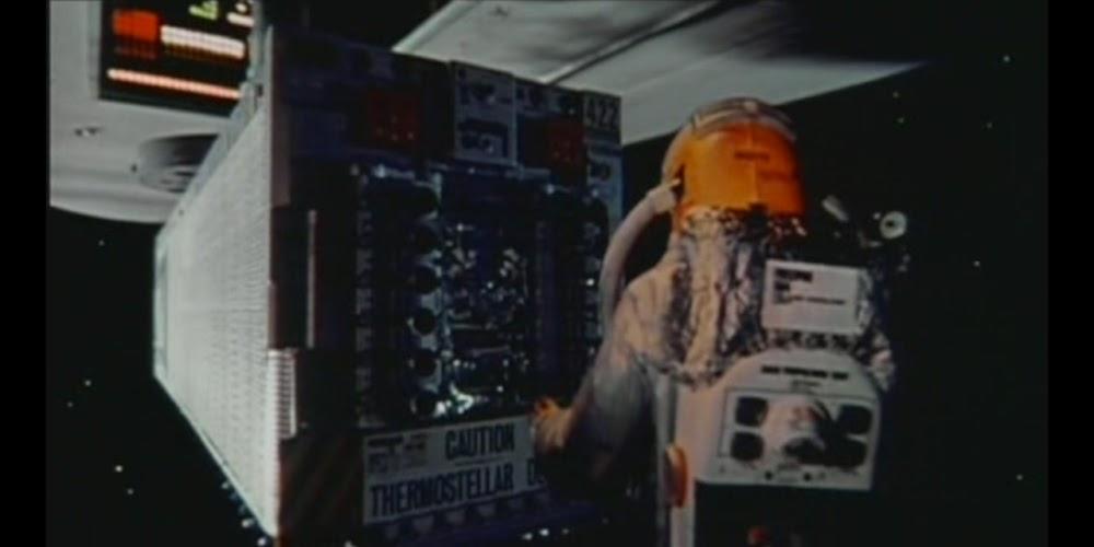 Bomb 20, citing existential philosophy, declines to abort detonation in John Carpenter's <em>Dark Star</em> (1974). Cf the Ugnaughts' talking bombs in <em>Star Wars</em>.
