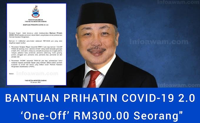 SENARAI BANTUAN PRIHATIN COVID-19 2.0 'One-Off' RM300.00 - SABAH