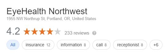 Review of Eye Health Northwest