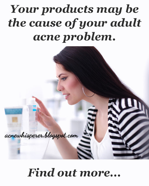 """If you've tried every diet, supplement, and hormonal remedy for your Adult Acne because you've read that """"it's all internal"""" yet nothing has helped, your daily products are likely to blame after all.  Find out more!"""