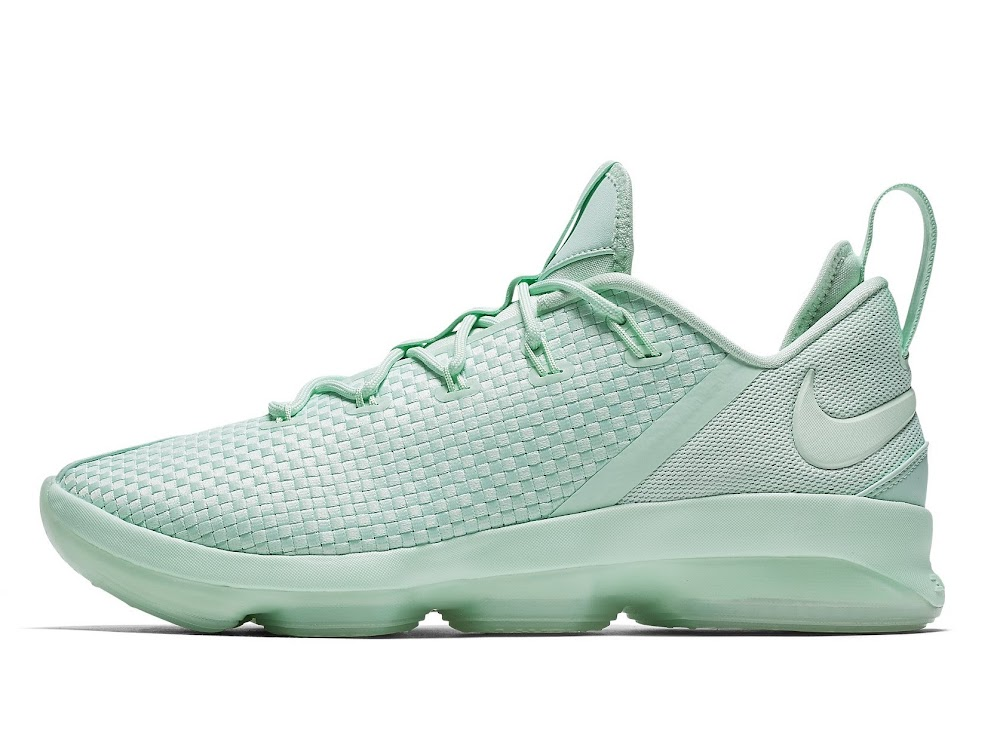 6e23b96ed08e0 ... Nike LeBron 14 Low Summer Lineup Mint Green Prism Pink Light Bone ...