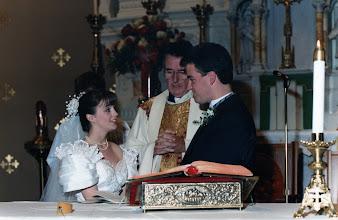 Photo: Nephew Jim Naughton's wedding to Carol  1991