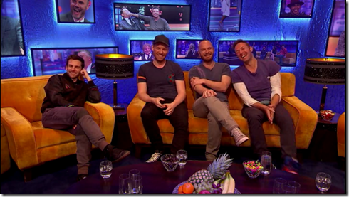 The Jonathan Ross show Coldplay Simon Pegg12