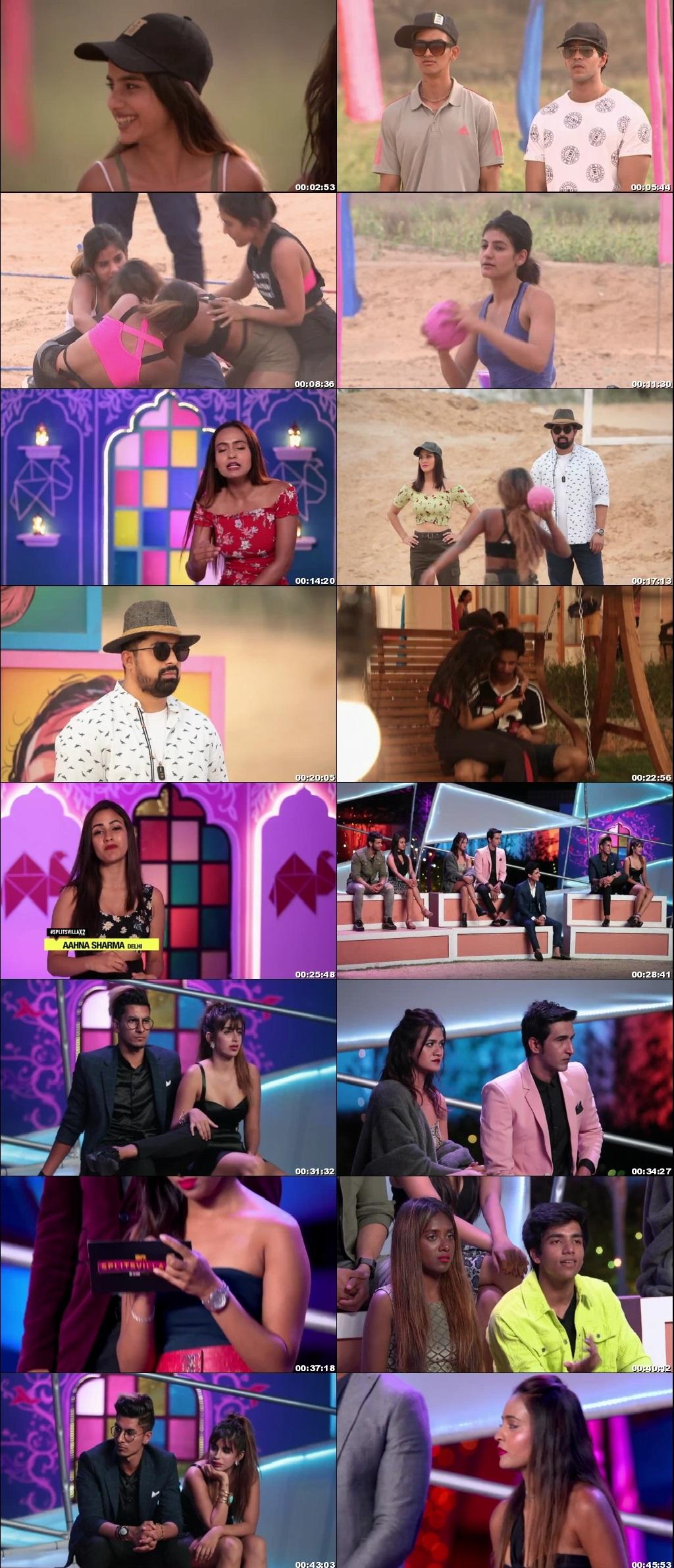 Screenshots Of Hindi Show Splitsvilla 12 25th October 2019 Episode 11 300MB 720P HD