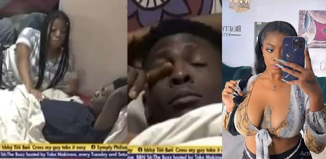 """#BBNaija: """"Na pity strategy to Nack Angel"""" – Reactions as Sammie bursts into tears while talking with Angel (Video)"""