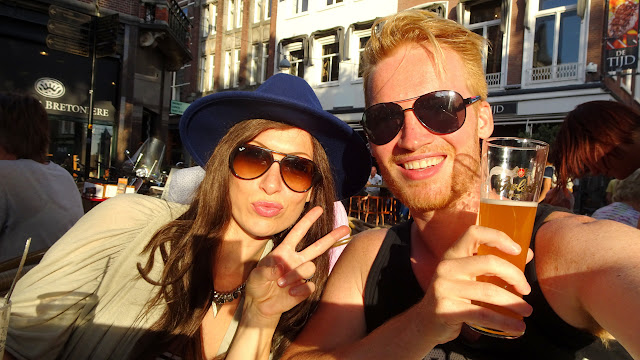having drinks with my sister in The Hague, Netherlands in Amsterdam, Noord Holland, Netherlands