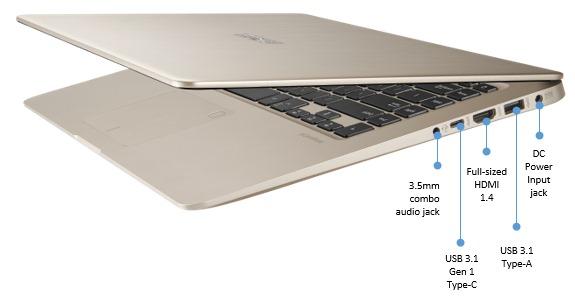 Port sisi kanan Asus VivoBook S15 S510UQ