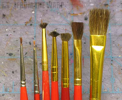 weathering powder brushes