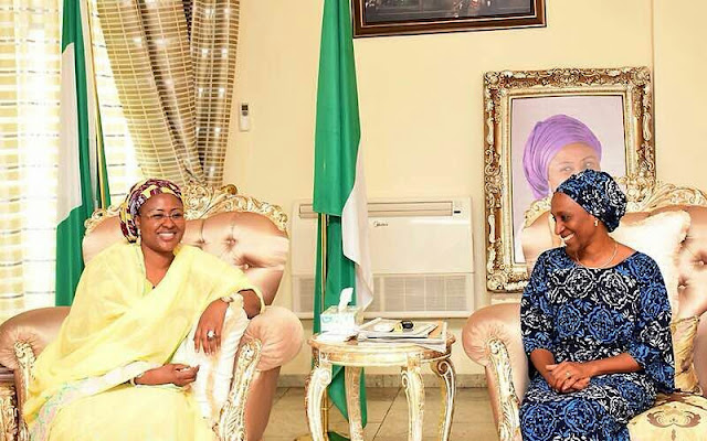 Checkout This Adorable photo of Aisha Buhari  and YEMI Osinbanjo