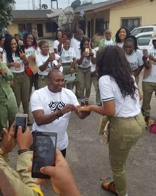 Nigerian Lady Gets Surprised Proposal From Boyfriend On Her Passing Out Parade Today In Port Harcourt