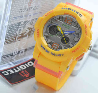 jam tangan Digitec ladies 2073 Yellow rubber