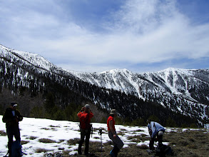 Photo: The first time we took off snowshoes on the descent...