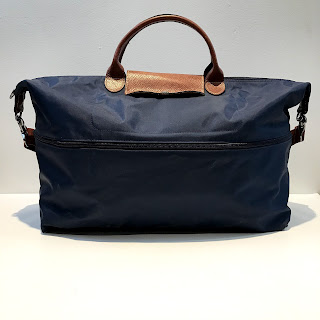 """Longchamp """"Extensible"""" Navy Blue Le Pliage Travel Bag"""