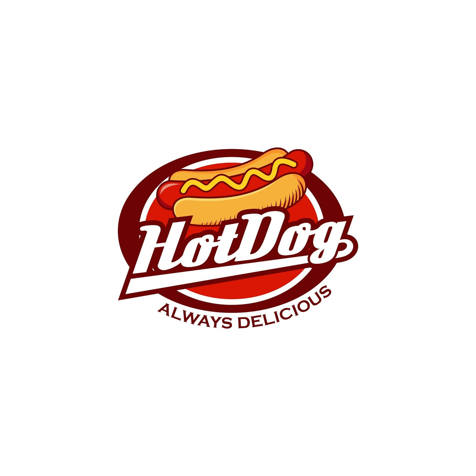 Hot Dog Logo Badge Funny Free Download Vector CDR, AI, EPS and PNG Formats