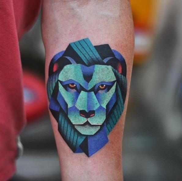 Este surreal tatuagem de leão