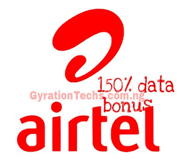 Airtel 150% Data Bonus - Get 1.8GB For N500