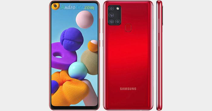 Samsung Galaxy A21s Desain
