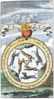 Engraving From Basil Valentine Chymische Schrifften Hamburg 1717, Alchemical And Hermetic Emblems 2
