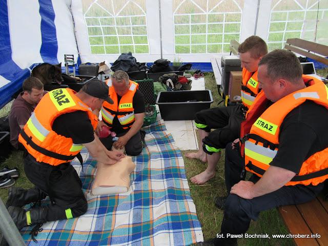 Warsztaty ratownictwa nurkowego wGackach ze wsparciem OSP Chroberz