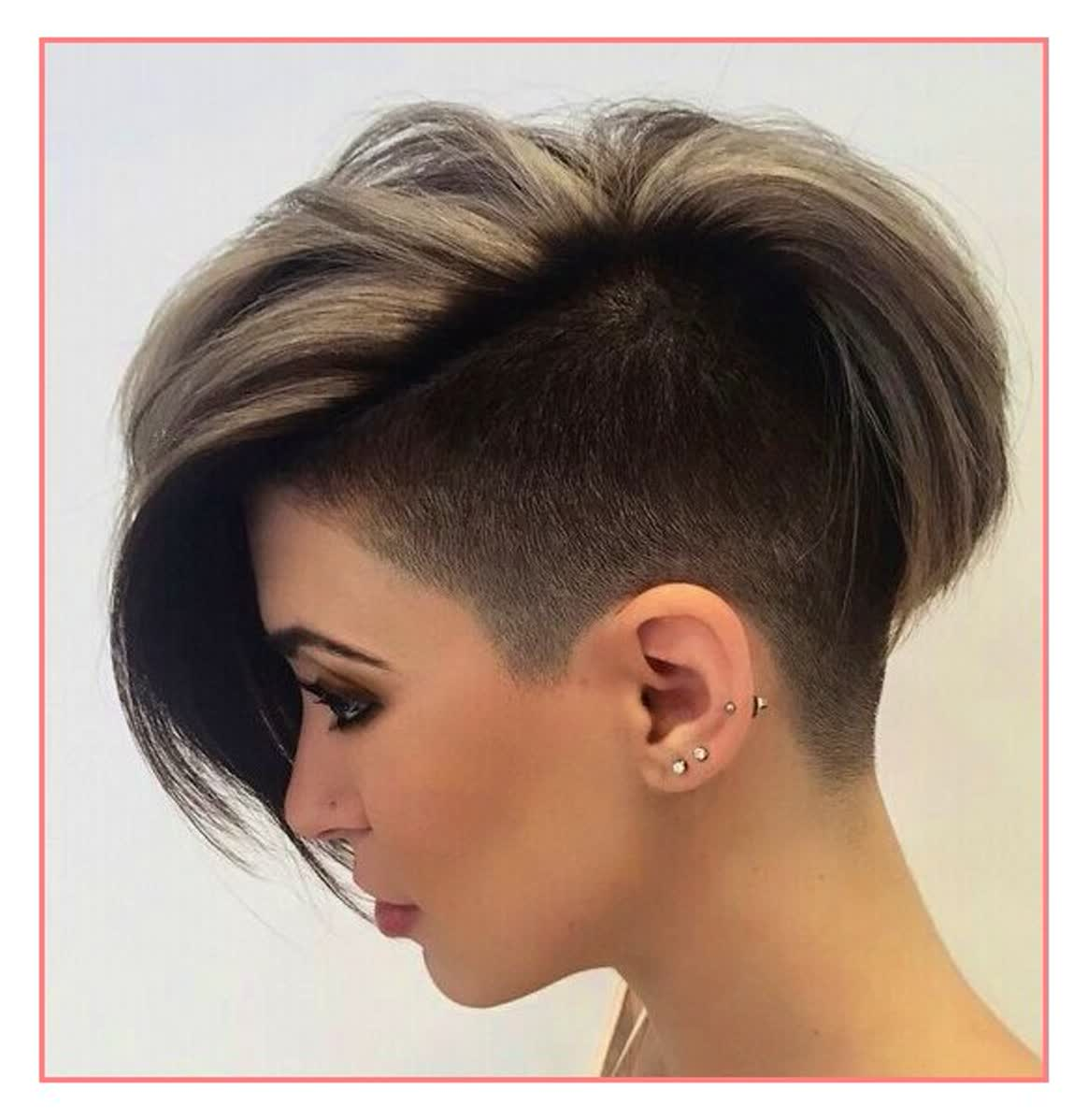 AMAZING COLORFUL UNDER CUT HAIR STYLES FOR WOMEN 13