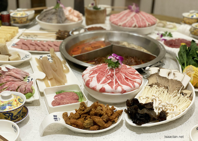 Good array of hotpot ingredients