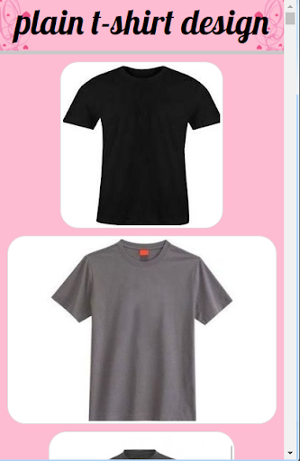 Plain T-shirt Design 3.0 screenshots 1