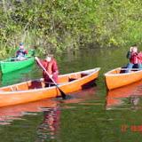 Solo paddling skill demonstration