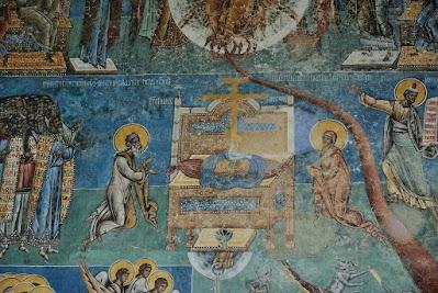 Kloster Voronet, der Thron Christi