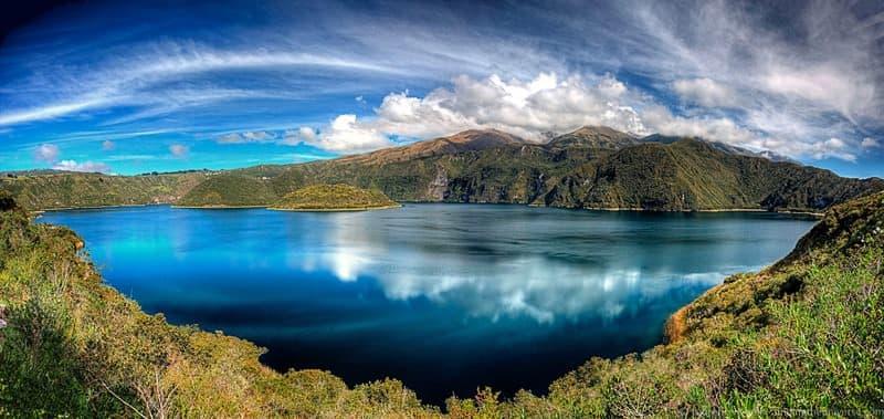 cuicocha lake otavalo panoramic scaled - scaled