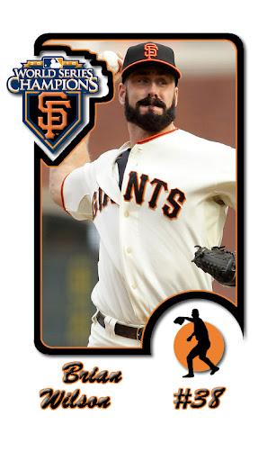 Brian Wilson SF Giants Baseball Card Android wallpaper by eyebeam