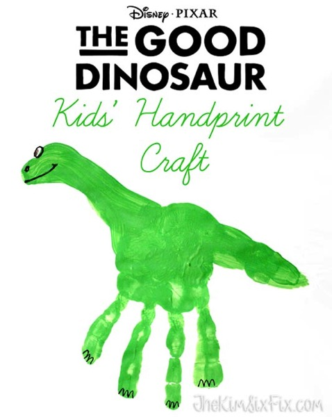 The good dinosaur handprint craft activity sheets the for Dinosaur crafts for toddlers
