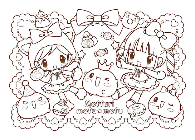Mofu Mofu  Coloring Pages Kawaii