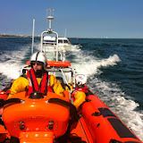 Poole ILB towing a broken down angling vessel 20 June 2014 Photo: RNLI Poole/Dave Riley