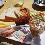 brunch on the Dutch IJmuiderbeach in Velsen, Noord Holland, Netherlands