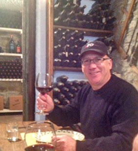 J/70 sailor Henry Brauer enjoying Chianti, Italy