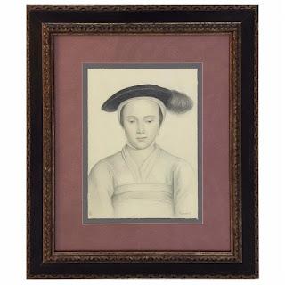 Mark Roberts Signed Renaissance Style Portrait Drawing #2