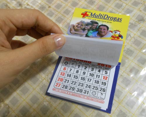 customizando calendário com foto