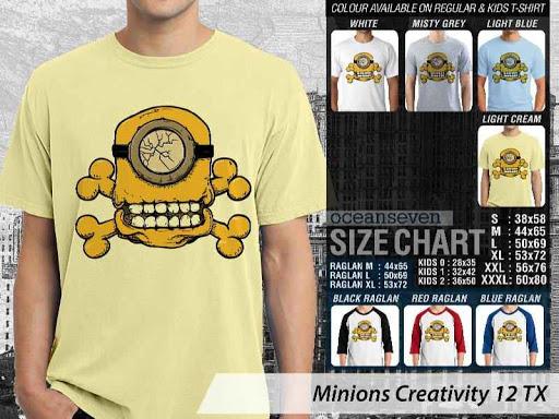 Kaos Kartun Minions Creativity 12 distro ocean seven