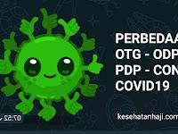 Perbedaan OTG, ODP, PDP dan Confirm Covid-19
