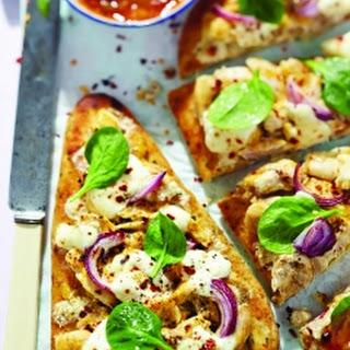 Chicken Korma Naan Bread Pizzas Recipe