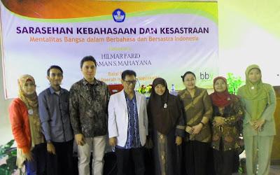 Bahasa dan Sastra Indonesia merupakan alat pemersatu komunikasi di Negeri Indoensia