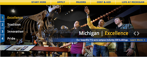 University of Michigan Admissions Web Site Slideshow