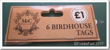 6 Birdhouse Tags The Works