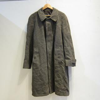 Burberry Tweed Houndstooth Coat